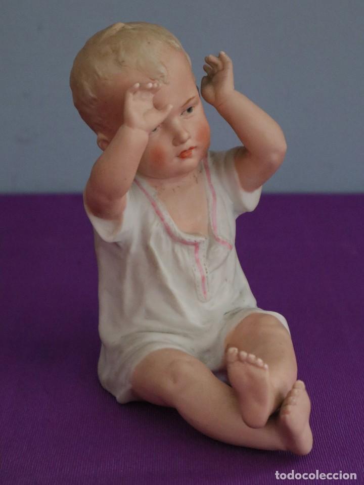 Antigüedades: Baby Piano elaborado en biscuit policromado. Pps. S. XX. Mide 16 x 13,5 cm. - Foto 10 - 277656213