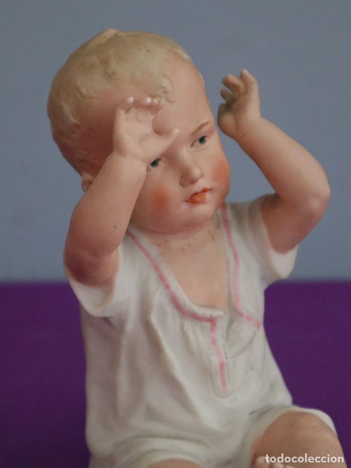 Antigüedades: Baby Piano elaborado en biscuit policromado. Pps. S. XX. Mide 16 x 13,5 cm. - Foto 11 - 277656213