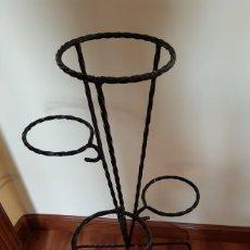 Antigüedades: MACETERO HIERRO FORJADO. Lote 277664018