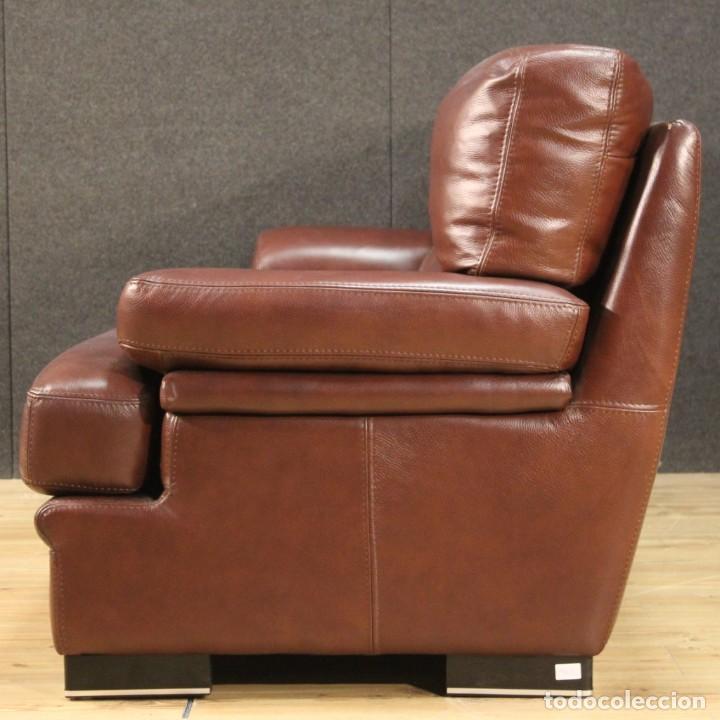 Antigüedades: Gran sofá de cuero de los años 80 - Foto 10 - 277701493