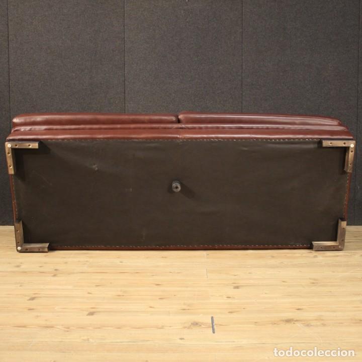 Antigüedades: Gran sofá de cuero de los años 80 - Foto 12 - 277701493