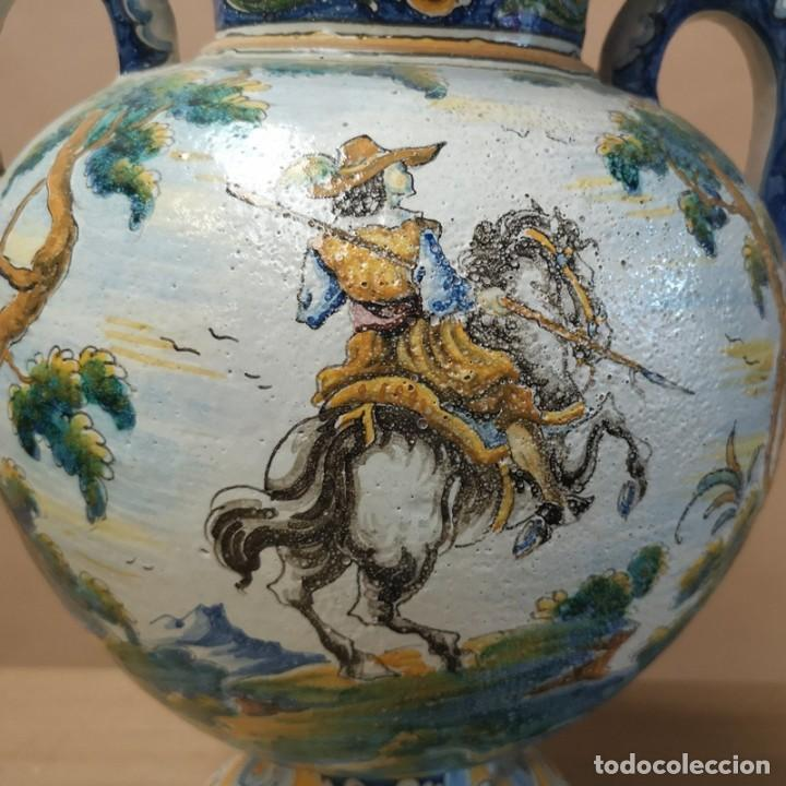 Antigüedades: Jarrón Ánfora Talavera - Foto 5 - 277720708