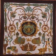 Antigüedades: PAÑUELO DE SEDA CLÁSICO INGLÉS. Lote 277725123