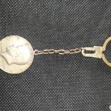 Antigüedades: LLAVERO MONEDA DE PLATA DÓLAR.. Lote 277725143