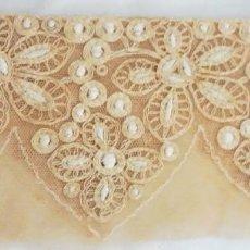 Antigüedades: ANTIGUO ENCAJE TAMBOR ART DECO PPIO. S. XX. Lote 277744898