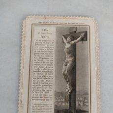 Antigüedades: ESTAMPA CALADA DE PUNTILLA MI JESUS MISERICORDIOSO ED E BOURMART PARIS. Lote 277759148