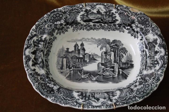 Antigüedades: Antigua fuente/ensaledera de Pickman, Sevilla, Sello de marca acreditativo, sello 22. - Foto 2 - 277762878