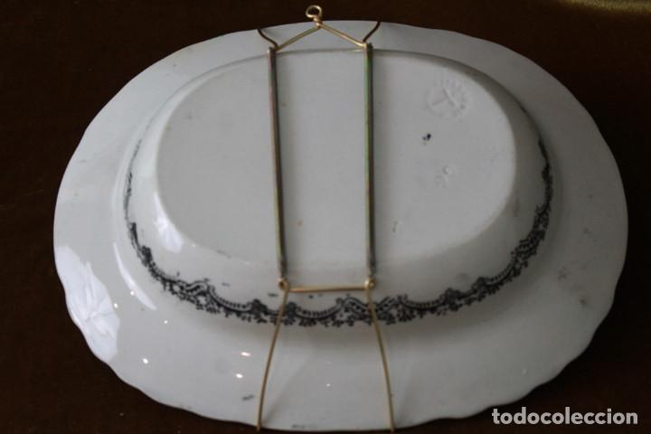 Antigüedades: Antigua fuente/ensaledera de Pickman, Sevilla, Sello de marca acreditativo, sello 22. - Foto 5 - 277762878