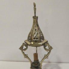 Antigüedades: INCENSARIO ANTIGUO DE BRONCE NEOGÓTICO CON APAGA VELAS. Lote 277764413