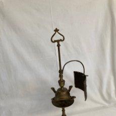 Antigüedades: PRECIOSO QUINQUE ANTIGUO DE BRONCE!4 MECHAS!. Lote 277841588