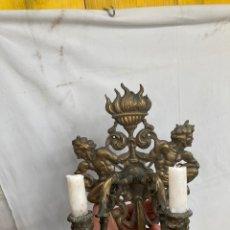 Antigüedades: PRECIOSO CANDELABRO ANTIGUO DE BRONCE!. Lote 277851558