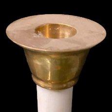 Antigüedades: ANTIGUO CANDELABRO DE MÁRMOL Y BRONCE. NAPOLEÓN III, IMPERIO. 28 CM.. Lote 277853093