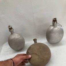 Antigüedades: LOTE CANTIMPLORAS 1 GUERRA MUNDIAL UNA ESCRITA!. Lote 278192693