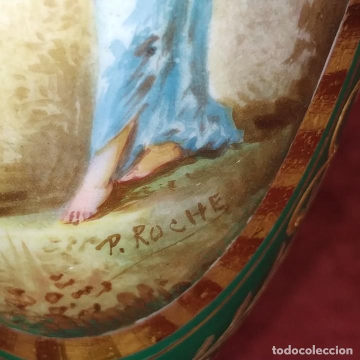Antigüedades: PAREJA DE JARRONES ESTILO SEVRES. FIRMADOS P. ROCHE. FRANCIA. FINALES SIGLO XIX - Foto 18 - 278213223