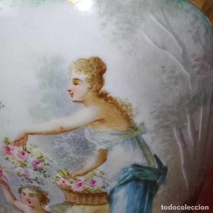 Antigüedades: PAREJA DE JARRONES ESTILO SEVRES. FIRMADOS P. ROCHE. FRANCIA. FINALES SIGLO XIX - Foto 23 - 278213223