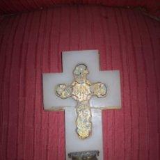 Antigüedades: BENDITERA FRANCESA CLOISONNE. Lote 278228268