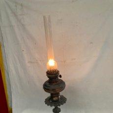 Antigüedades: ANTIGUO Y GRAN LAMPARA QUINQUE DE PETROLEO!. Lote 278265683