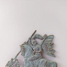 Antigüedades: PLACA HIERRO SAN JORGE Y EL DRAGÓN. Lote 278268943