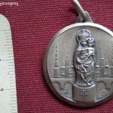 Antigüedades: VIRGEN DEL PILAR DE ZARAGOZA. MEDALLA DE PLATA. 1970. Lote 278276978