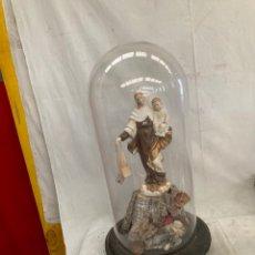 Antigüedades: ANTIGUO FANAL,CUPULA CRISTAL,RELICARIO LA VIRGEN!. Lote 278330073