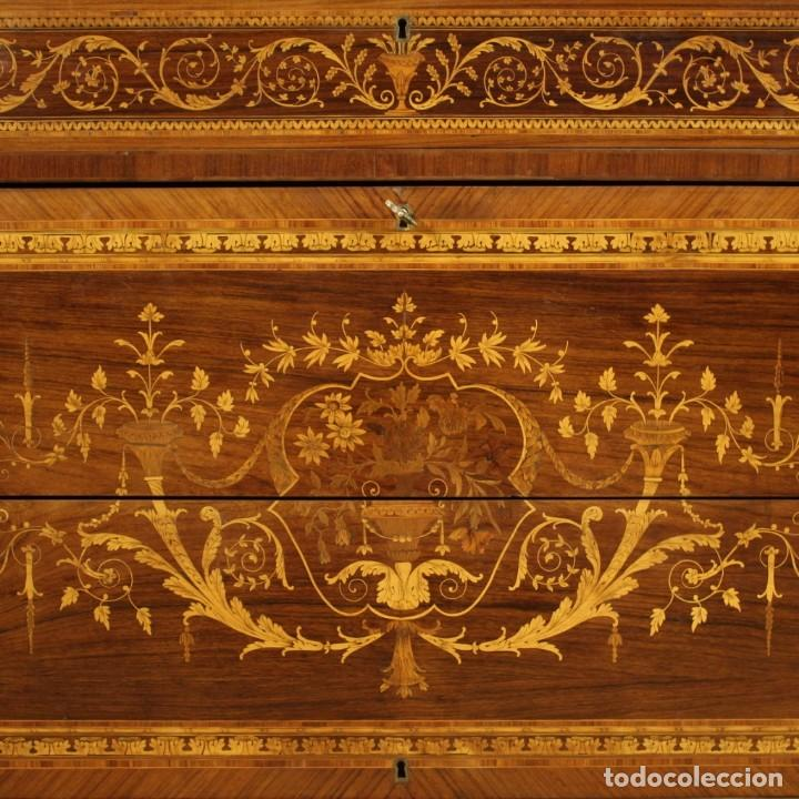 Antigüedades: Cómoda con incrustaciones italianas en estilo Luis XVI - Foto 4 - 278330168