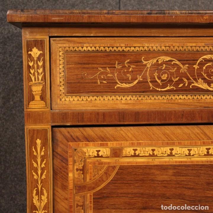 Antigüedades: Cómoda con incrustaciones italianas en estilo Luis XVI - Foto 11 - 278330168