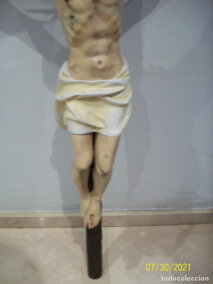 Antigüedades: ANTIGUO Y GRAN CRUCIFIJO - Foto 4 - 278360343