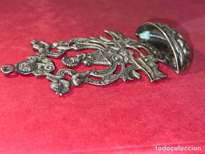 Antigüedades: Antigua benditera en plata de Ley. Principios de siglo XX - Foto 4 - 278378698