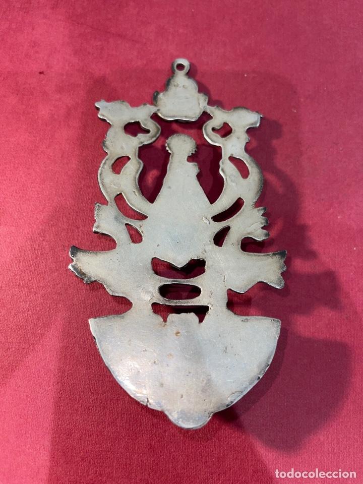 Antigüedades: Antigua benditera en plata de Ley. Principios de siglo XX - Foto 8 - 278378698