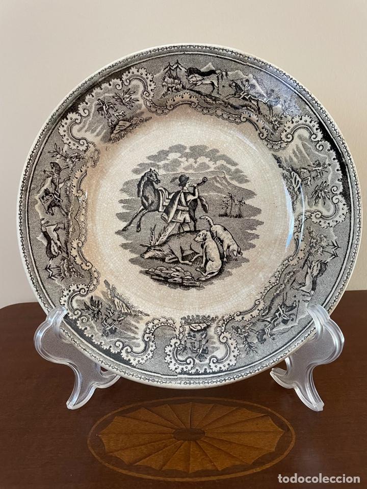 PLATO HONDO DE CERÁMICA DE CARTAGENA (Antigüedades - Porcelanas y Cerámicas - Cartagena)