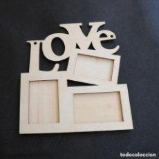 Antigüedades: PRECIOSO MARCO DE FOTOS DISEÑO LOVE(NUEVO). Lote 278398908