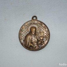 Antigüedades: ANTIGUA MEDALLA DE SAN LIGORIO , Y LA VIRGEN ,. Lote 278409178