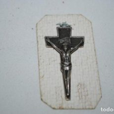 Antigüedades: CRUCIFIJO MODERNISTA PLATEADO .. Lote 278411288