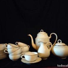 Antigüedades: JUEGO DE CAFE EN PORCELANA DE LIMOGES. Lote 278414323