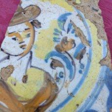 Antigüedades: BONITO FRAGMENTO AZULEJO TRIANA SIGLO XVIII. Lote 278418443