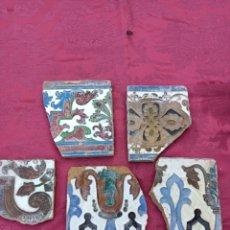 Antigüedades: FRAGMENTO AZULEJOS TRIANA SIGLO XIX. Lote 278418518