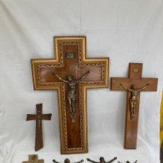 Antigüedades: GRAN LOTE DE CRUCIFIJOS ANTIGUOS Y JESUS SUELTO!. Lote 278425018