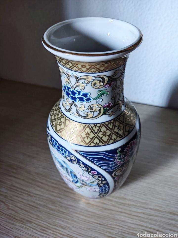 Antigüedades: JARRÓN VINTAGE PORCELANA SEIZAN JAPÓN - Foto 4 - 278448453