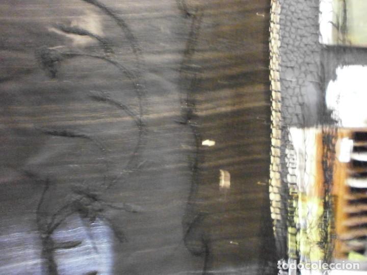 Antigüedades: muy antiguo manton de manila negro bordado por los dos lados flores ver fotos - Foto 15 - 278457348
