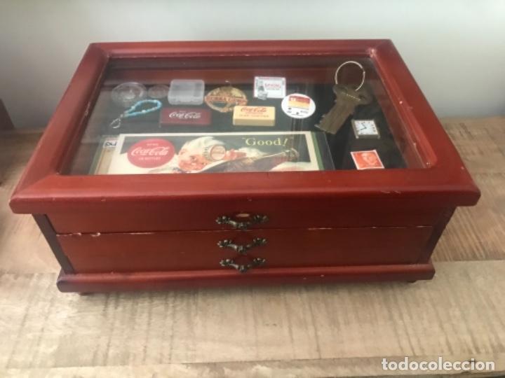 Antigüedades: Vitrina mostrador coleccionismo. 3 cajones. Miniaturas. Colecciones - Foto 9 - 278462743
