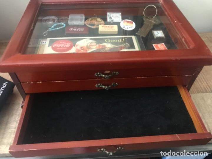Antigüedades: Vitrina mostrador coleccionismo. 3 cajones. Miniaturas. Colecciones - Foto 3 - 278462743