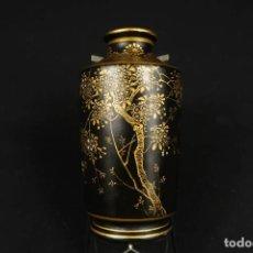 Antigüedades: ANTIGUO JARRON JAPONES DE PORCELANA SATSUMA FIRMADO. Lote 278499953