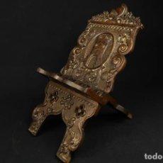 Antiguidades: ANTIGUO ATRIL DE MADERA TALLADA SIGLO XVIII. Lote 278503093