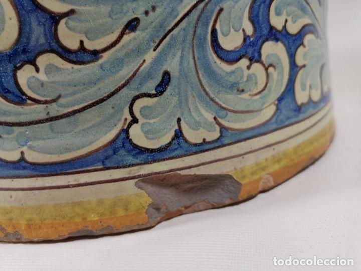 Antigüedades: BONITO BASTONERO - PARAGUERO EN FORMA DE JARRA EN CERAMICA DE TALAVERA (NIVEIRO) - Foto 30 - 278548053