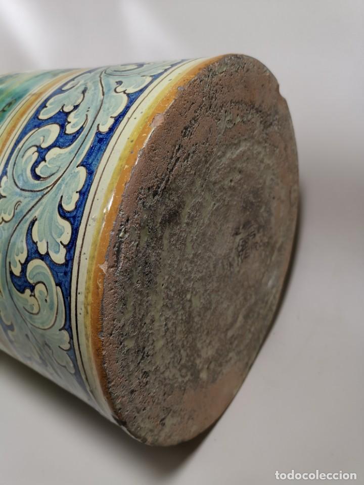 Antigüedades: BONITO BASTONERO - PARAGUERO EN FORMA DE JARRA EN CERAMICA DE TALAVERA (NIVEIRO) - Foto 44 - 278548053