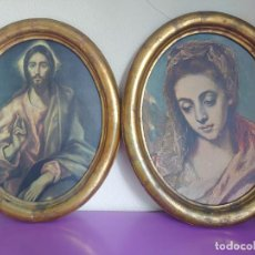 Antigüedades: PAREJA GRANDES MARCOS OVALADOS MADERA SIGLO XIX. Lote 278561253