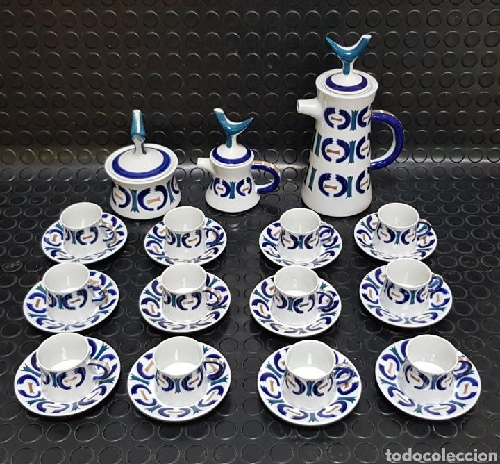 JUEGO DE CAFÉ 12 SERVICIOS SARGADELOS (Antigüedades - Porcelanas y Cerámicas - Sargadelos)