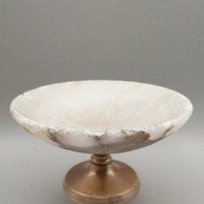 Antigüedades: ANTIGUO CÁLIZ MÁRMOL Y PLATA DE LEY. PRINCIPIOS SIGLO XX. Lote 278610123