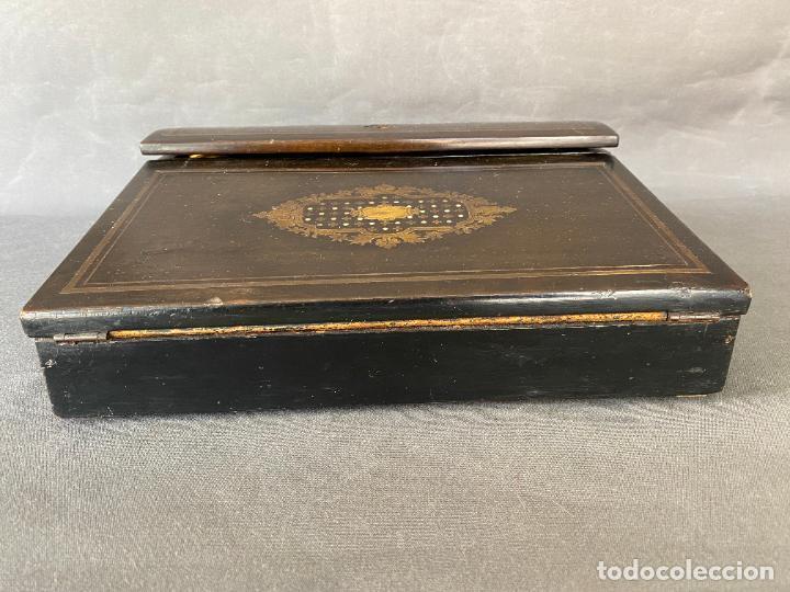 Antigüedades: ANTIGUO ESCRITORIO DE VIAJE , ESCRIBANÍA . - Foto 13 - 278617773