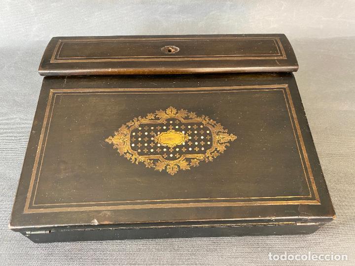 ANTIGUO ESCRITORIO DE VIAJE , ESCRIBANÍA . (Antigüedades - Muebles Antiguos - Escritorios Antiguos)